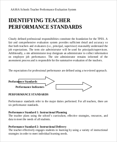 and evaluation teacher performance filetype pdf