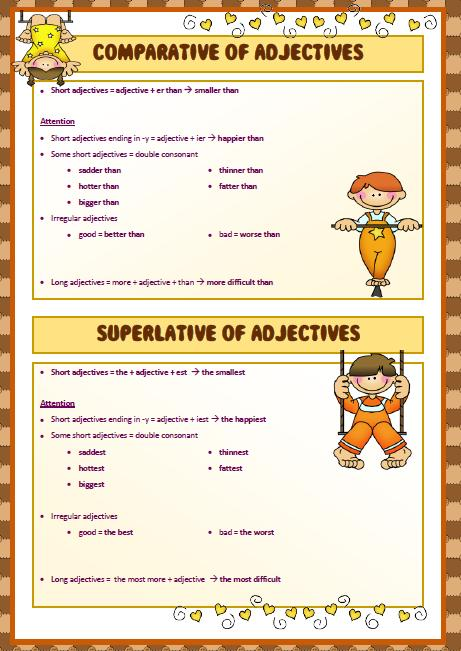 comparatives and superlatives cities pdf worksheets