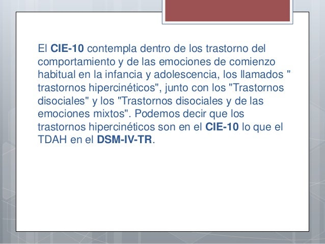 cie 10 pdf dificit de atencion