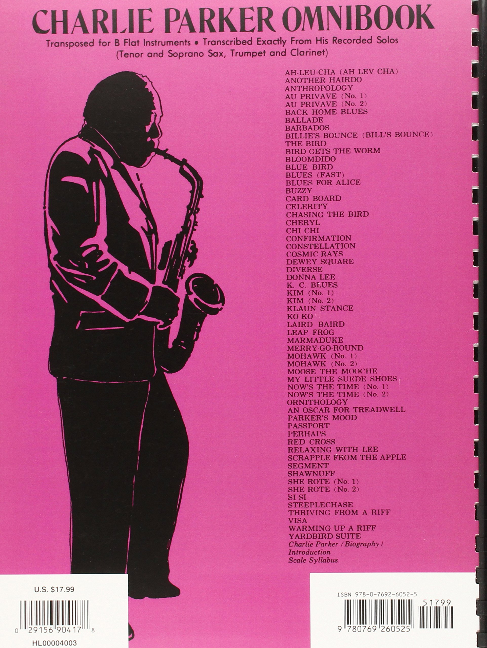 charlie parker omnibook for e flat instruments pdf free download